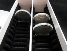 Guardhouse Double Row Coin Capsule Box, Holds 50 Large Capsules, Airtite H Caps