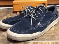 G.H. BASS & CO. MEN'S NAVY SUEDE CASUAL BOAT SHOES SIZE 10.5D