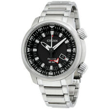 Citizen Black Dial Stainless Steel Men's Watch BJ708053E