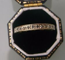 Women's 9ct Gold Diamond Ring Hidden Ring Under Reads 'MUM' Size M Stamped