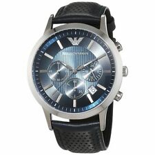 Emporio Armani AR2473 Renato Men's Chronograph Blue Dial Watch - RRP £249