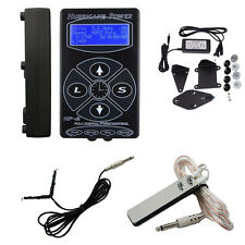 Hurricane LCD Display Tattoo Power Supply Foot Pedal Switch Clip Cord Kit