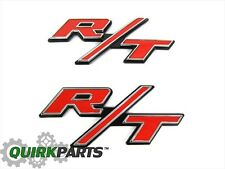Dodge Jeep Chrysler RT R/T Emblem Nameplate Badge Set Of 2 OEM NEW MOPAR GENUINE