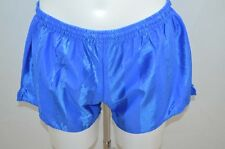 SHORT DE COURSE GAY NYLON VINTAGE RETRO M BLEU