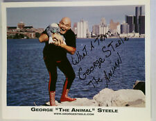 GEORGE THE ANIMAL STEELE AUTHENTIC AUTOGRAPH  8X10 Photo WWF  WWE WRESTLING