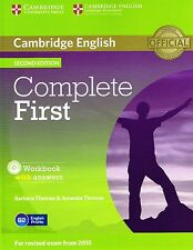COMPLETE FIRST 2nd Edit WORKBOOK with Answers & AUDIO CD for Exam from 2015 @NEW