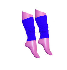 GIRLS LADIES TEEN 80'S DANCE PLAIN RIBBED LEG WARMERS LEGWAEMER TUTU FANCY DRESS