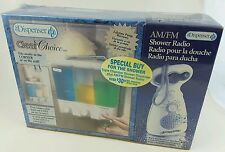 Clear Choice The Dispenser 3 Compartments Shampoo Conditioner w/AM/FM Radio