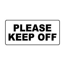 Please Keep Off Black Retro Vintage Style Metal Sign - 8 In X 12 In With Holes