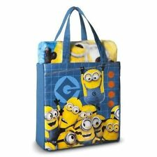 Despicable Me Minions 2 Piece Silk Touch Throw & Canvas Tote Set NEW