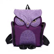 New Women Cute Owl Backpack Shoulder knapsack Schoolbags Leisure Travel Hobo Bag