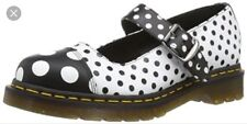 Dr Martens Brandie Black And White Polka Dot Mary Jane Sz Uk 5 Us 7 Nwb