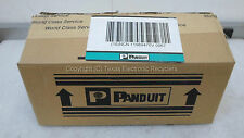 NOB - Qty 10 Panduit CFPL4SY Mini-Com 4 Position Stainless Steel Faceplate