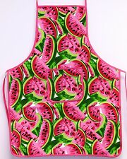 Watermelon Print Kitchen Apron Bib with Pocket Cooking Baking Chefs 100% Cotton