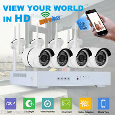 Wireless 4CH HDMI DVR NVR Outdoor Wifi 720P HD Camera WLAN CCTV Security System