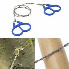Hiking Camping Stainless Steel Wire Saw Emergency Travel Survival Gear NJ