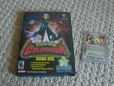 Nintendo GAMECUBE POKEMON COLOSSEUM BONUS DISC Game + Free Pokemon JIRACHI Card