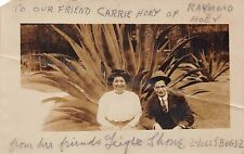 2 JOLLY BUGS~VAUDEVILLE ACT~LEIGH & SHANE~REAL PHOTO POSTCARD 1910s