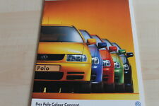136132) VW Polo 6N - Colour Concept - Prospekt Mappe 10/1998