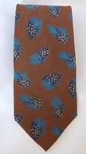 Men's GIORGIO ARMANI Cravatte 100% Pure Silk Brown Neck Tie Made in Italy