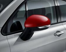 Fiat 500X Wing Door Mirror Covers Backing Caps Genuine Red 50903553