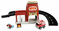 Fire Station Playset Car Kid Galaxy GoGo City Toy Ages 2+ Boys Girls Gift Happy