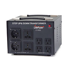 5000 W Watt Step Up/Down Voltage Converter Transformer w/ Circuit Breaker