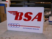 VINTAGE BSA MOTORCYCLE DEALER  SIGN PARTS & ACCESSORIES EC0120