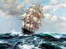 Art Print sea voyage Ship Oil painting Picture Printed on canvas 16X20 Inch P110