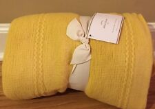 NEW Pottery Barn Abbott Knit Throw GOLD YELLOW