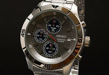 Seiko SKS407 Silver Steel Grey Dial Chronograph Designer Mens Watch RRP £199