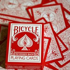 Reversed Rider Back Red-Bicycle by Magic Makers poker carte da gioco