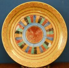 A hand painted Japanese Nippon period Satsuma porcelain gilt saucer