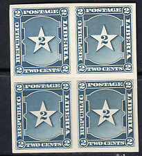 Liberia # 34 MNH 1892 IMPERF Block of Four Waterlow