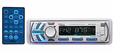 Boss MR1440U White Single Din Detachable Marine Receiver w. AUX/MP3 FM/AM Radio