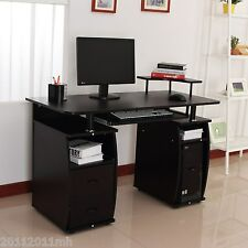 HOMCOM Office Computer Desk Pc Work Station Furniture Home w/ Printer Shelf