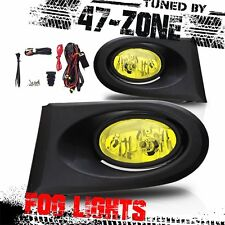 StealthFor 2002-2004 Acura RSX Yellow Lens Chrome Housing ABS Fog Lights Lamps