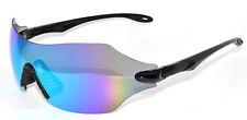 EVOLUTION Gamma Sport Occhiali da sole ampia superficie a specchio Ciclismo Occhiali Da Sole Neri
