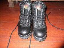 VTG SKECHERS BLACK LEATHER MOUNTAINEERING HIKING BOOTS LADIES  SZ 8