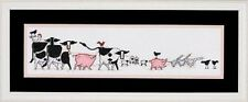 "Barnyard March Cross Stitch Kit - Needle Treasures - 18 Count - 20"" x 5"""
