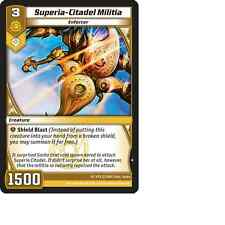 Kaijudo X3 SUPERIA-CITADEL MILITIA Common #27/160 15VTX (Playset) Vortex 2014