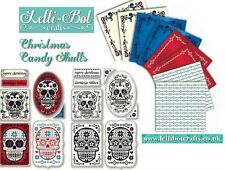 Lelli-Bot Crafts ~ Christmas Skulls ~ Luxury Toppers & Papers Pack ~ PERFECT