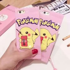 Popular Hot Cartoon Cute Pink Pokemon Pikachu Soft Case Cover For iPhone 6S