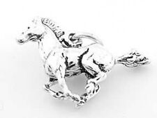 STERLING SILVER HORSE STALLION MUSTANG  3D SOLID CHARM