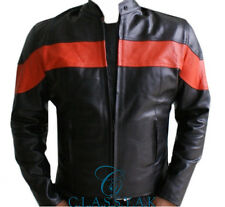 Classyak Motorbike Real Leather Jacket with Armor Protection, All Sizes, Xs-5xl