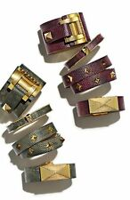 New one VINCE CAMUTO 'Tour of Duty' Vine Leather Pyramid Bracelet $48.00