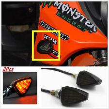 2x 12 LED Smoke Triangle Turn Signal LED Lights Indicator for Motorcycle ATV 12V
