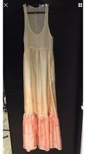 BNWT all saints ombre 100% silk Maxi Dress Sunrise size 8 hand embellished