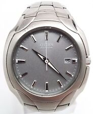 Citizen Eco-Drive BM6010-55A Mens 180PR Stainless Steel Gray Dial Watch