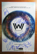 Westworld signed x8 autograph 12x18 Photo JJ Abrams Evan Rachel Wood HBO PROOF
